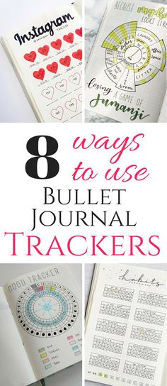 Bullet Journal Trackers for everything! Habit trackers, budget trackers, workout trackers and more! Digital Bullet Journal, Bullet Journal Tracker, Bullet Journal How To Start A, Bullet Journal Spread, Bullet Journal Layout, Bullet Journal Inspiration, Bullet Journals, Art Journals, Organization Bullet Journal