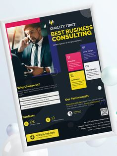Corporate, Business Poster Template PSD, Vector EPS and AI Business Poster, Poster Templates, Corporate Business, Fun To Be One, Lorem Ipsum, Design, Design Comics
