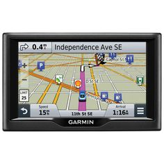 """Garmin Nuvi 5"""" GPS Overview With the Garmin nüvi 58LM GPS navigator, you can easily reach your destination without fumbling around with maps. This GPS is preloaded with maps of Canada and the United States. Real Directions feature offers easy-to-understand directions with clear spoken instructions. The large 5"""" LCD is easy to read and giving you the info you need at a glance."""