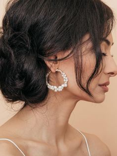 Stylish fashion earrings at affordable prices - Chandelier Earrings, Studs, Dangle Earrings, Bridal Earrings. Off First Order at Olive + Piper Vancouver. Tassel Earrings, Bridal Earrings, Statement Earrings, Wedding Jewelry, Stud Earrings, Wedding Accessories, Heavy Earrings, Doja Cat, Pearl Jewelry