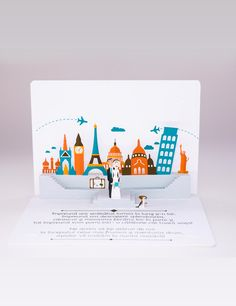 This is sooo cool! Invitaţie Travel Pop-up wedding invitations! 3d Cards, Pop Up Cards, Recycled Materials, Birthday Cards, Christmas Cards, Recycling, Wedding Invitations, Cool Stuff, How To Make