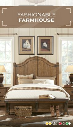 The Heartland Falls bedroom, inspired by the music and lifestyle of Eric Church, is a nostalgic mix of Arts and Crafts design with a dash of western style. Visit Rooms To Go now, and shop this fashionable farmhouse bedroom and many more! Fall Bedroom, Home Bedroom, Bedroom Decor, Bedroom Furniture, Bedroom Brown, Mirrored Furniture, Master Bedrooms, Queen Bedroom, Bedroom Sets