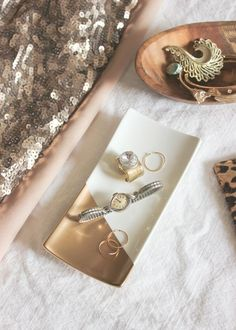 gold dipped jewelry trays // 5 days of diy gifts — A Fabulous Fete