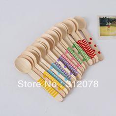 Colorful Chevron Striped Polka Dot Zig Zag Wooden Spoon Cutlery
