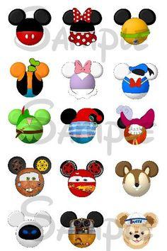 Varios personaje inspirado cabeza Mickey hoja por SwirlyColorPixels