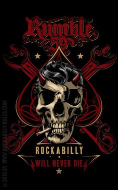 Rumble59 - Rockabilly will never die - T-Shirt