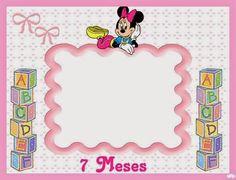 Minnie Bebé: Album de Fotos para Imprimir Gratis. Blogger Templates, Kit, Frame, Cards, Decor, Mardi Gras, Free Printable, Baby Memories, Decoration