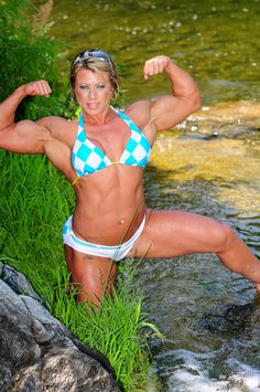 A picture of Julie Bourassa. This site is a community effort to recognize the hard work of female athletes, fitness models, and bodybuilders. Fit Women Bodies, Female Bodies, Muscular Women, Female Form, Female Athletes, Body, Bikinis, Swimwear, Fitness Models