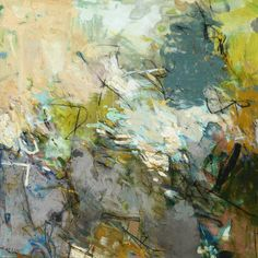 """CANALS AND BRIDGES 36""""h x 36""""w, acrylic and mixed media on canvas"""