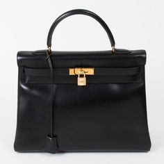 Hermes Kelly 35 In Black - Beyond the Rack.  For more designer handbags at discounted prices: www.queenbeeofbeverlyhills.com