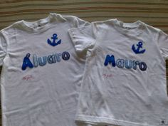 """Camisetas decoradas en patchwork para niños. Camisetas decoradas """"ME GUSTA"""" Facebook."""