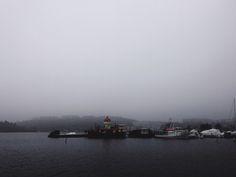 #sweden #stockholm #seaside #fog #ship