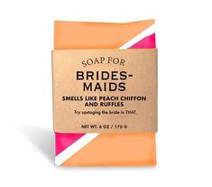 $10.95 - Soap for Bridesmaids - 170g / 6oz - Smells like peach chiffon and ruffles!