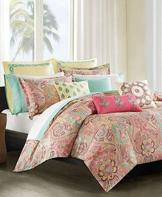 Echo Guinevere Comforter and Duvet Cover Mini Sets-I wouldnt have to replace my ugly green/blue carpet because it would match this.