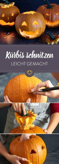 Herbst-Zeit ist Halloween-Zeit ist Kürbis-Zeit! So schnitzt du deinen Kürbis, reparierst kleine Missgeschicke und verwertest das Fruchtfleisch.