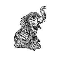 Line art tattoo zentangle ink 68 Ideas Tatoo Dog, Tatoo Henna, Mandala Tattoo, Mandala Elephant Tattoo, Sternum Tattoo, Tattoo Art, Elephant Tattoo Design, Shape Tattoo, Lotus Tattoo