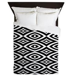 Queen Duvet Cover - Black And White - Ornaart Design by Ornaart, $199.00
