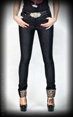 e8e58e9248845b Rumble59 Ladies Denim - Black Marilyns Curves - Slim Fit Rockabella  Kleidung