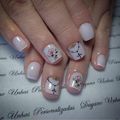 Cute design for short nails Cute Designs, Nail Art Designs, Elegant Nail Art, Stylish Nails, Nail Arts, Manicure And Pedicure, Short Nails, Nails Inspiration, Beauty Secrets