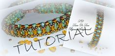 Tutorial for making a bracelet using Czech Rulla beads. In Italian but steps are clear enough to follow.
