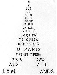 Guillaume Apollinaire  Avant-garde poet Guillaume Appollnaire designed Il Pleut…