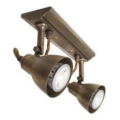 spot lighting for kitchens. Edgeware 2 Spot Lights In Antiqued Brass Lighting For Kitchens