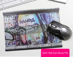 Berlin Wall Shout Mouse Pad