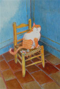 Vincent Van Gogh's cat -Toni Goffe Artist - although, upon reflection Vincent may not have committed suicide if he had had a cat.
