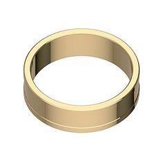 Cockring Classico Gold aus Titan. Nobel und dominant. (30mm)