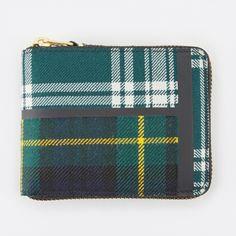 Comme Des Garçons Tartan Patchwork Zip Around Squared Wallet 4RdNri9P4