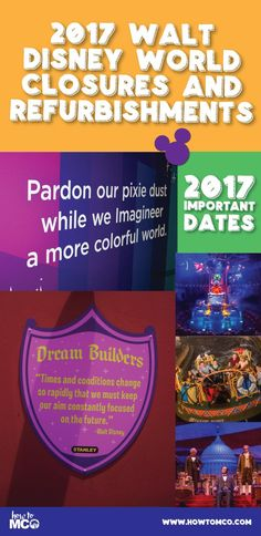 It's always good to know what is going to be closed during your trip to Walt Disney World (so bookmark this page!). This page is a list of attractions and dining venues that are currently closed or are scheduled to be closed temporarily for refurbishment.