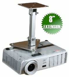"""PCMD All-Metal Projector Ceiling Mount with 8"""" Extension for Vivitek D791ST by PCMD, LLC.. $74.95. Projector ceiling mounts from PCMD, LLC. offers the consumer a quality ceiling mount at closeout prices. This projector ceiling mount can be rotated 360°, and pitched and rolled in any direction. The mounting plate is CNC machined for precise fitment and made from 6061-T6 aircraft grade aluminum. Unlike universal ceiling mounts, our projector ceiling mounts are specifically..."""