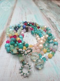 BOHO CHIC Beaded Colourful Necklace and Bracelet, Pastel Bracelet , Bohemian Necklace, Boho Chic Pastel colour by VintageRoseGallery Etsy Jewelry, Beaded Jewelry, Fine Jewelry, Handmade Jewelry, Beaded Bracelets, Unique Jewelry, Jewelry Ideas, Bohemian Necklace, Bohemian Jewelry