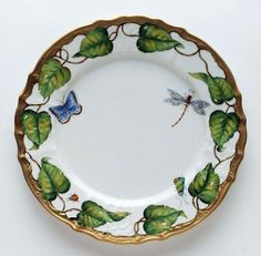 Ivy Garland Dinner Plate by Anna Weatherley - Hand-painted porcelain china inspired by the early botanical illustrators of Century Europe. Draw Tutorial, Dutch Still Life, Porcelain Ceramics, Painted Porcelain, Ceramics Tile, Porcelain Dinnerware, Hand Painted, Ceramic Plates, China Painting