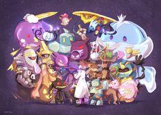 Just the ghosts Green Pokemon, Ghost Pokemon, New Pokemon, Pokemon Fantasma, Pokemon Halloween, Ghost Type, Pokemon Images, Kawaii Cute, Geek Culture