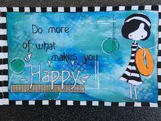 Art journaling 'Happy' by Wini