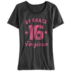 By Grace Forgiven John 3:16 Christian T-Shirt at ChristianApparelShop.com