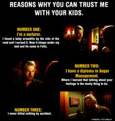 #trueblood, perfectly reasonable, Qualifications of a babysitter, I like Terry. =)