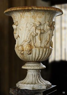 The Borghese Vase. Roman. second half of the1st.century. Pentelic marble. Louvre Museum. http://hadrian6.tumblr.com