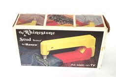 Vintage Ronco Rhinestone and Stud Setter As Seen on TV 1974 New in Box NIB by retrowarehouse on Etsy