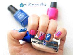 Inspired Blue & Pink Nail Polish #nailpolish #nailart #naildesign #bluenailpolish #pinknailpolish
