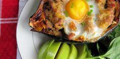 stuf acorn, paleo breakfast, breakfast stuf, food, diet recipes, ingredi breakfast, egg recip, acorn squash, meal