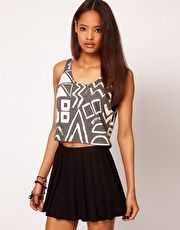 ASOS Tank with Multi Shapes in Texture