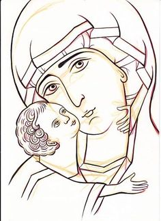 Icon of Mary with Child Jesus