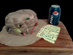 Fishing Retirement Cakes for Men | Retirement Cake for Pepsi employee Tag 122F