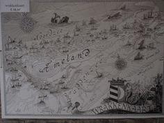 foto gemaakt door alles-vanellis  Kaart van de gezonken schepen rond Ameland