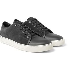 LANVINCap-Toe Leather And Suede Sneakers  $490