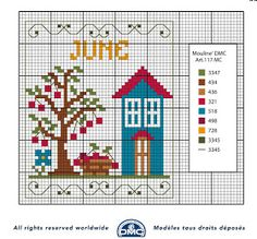 Large Collection of Charts and Charts for Free Cross Stitch: DMC Cross Stitch Months Charts