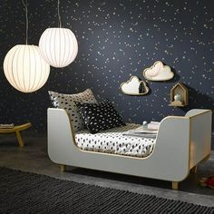 The universe, outer space ...Outer space is one of the biggest mysteries with its galaxies, stars and vastness, What better idea for a children's room theme?