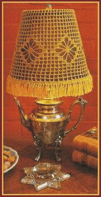 Crochet Web Lampshade Designed by Delsie Rhoades  http://delsiescrochet.com/8/Fashions.html#
